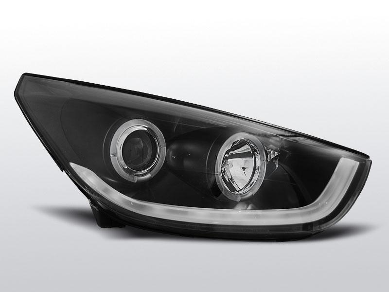 Predné svetlá, HYUNDAI IX35, 2010-2013, ČIERNE TUBE LIGHT