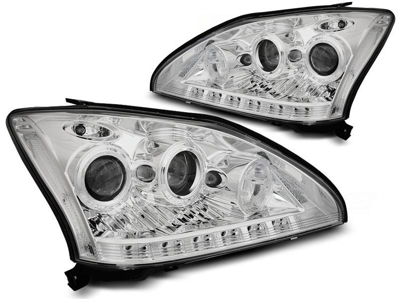 Predné svetlá, LEXUS RX 330/350, 2003-2008, TUBE LIGHT CHROME