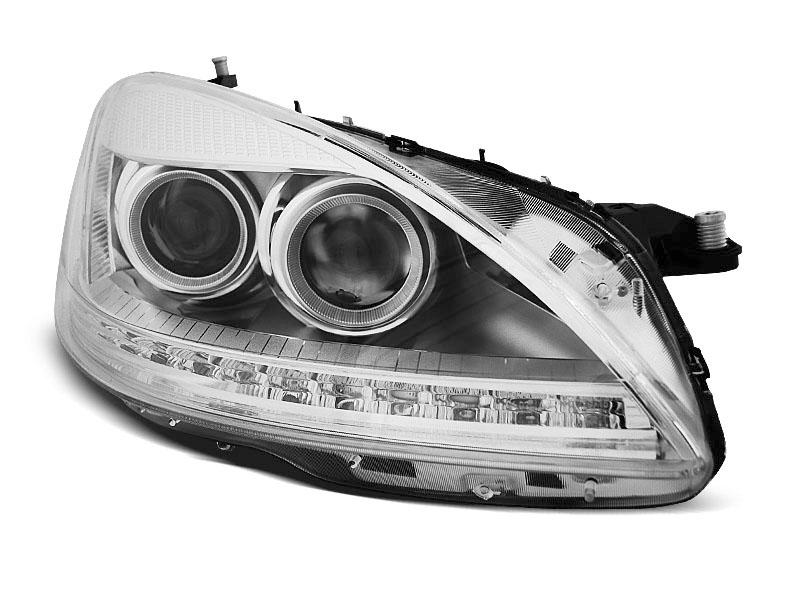 Predné svetlá, MERCEDES W221, 2005-2009, DAYLIGHT HID CHROME