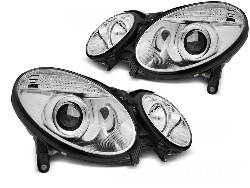 Predné svetlá, MERCEDES E-KLASA W211, 2006-2009, CHROME