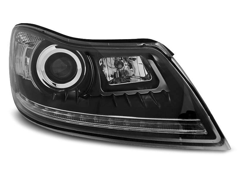 Predné svetlá, ŠKODA OCTAVIA II, 2009-2012, DAYLIGHT BLACK DRL