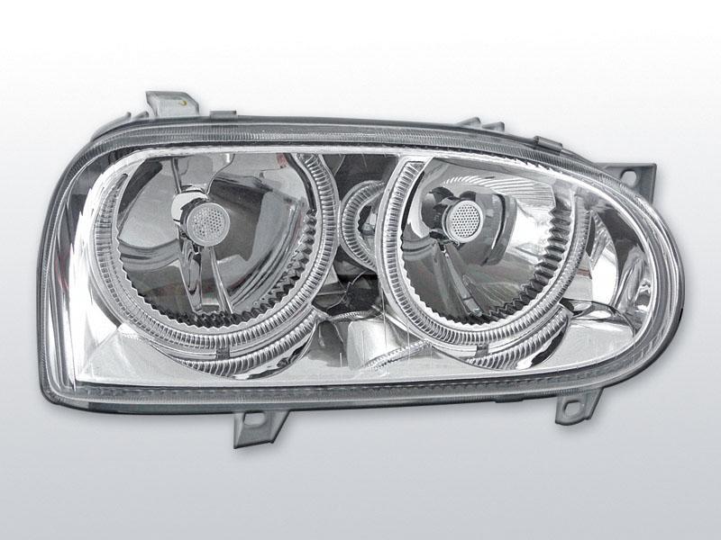 Predné svetlá, VW GOLF III, 1991-1997, ANGEL EYES CHROM