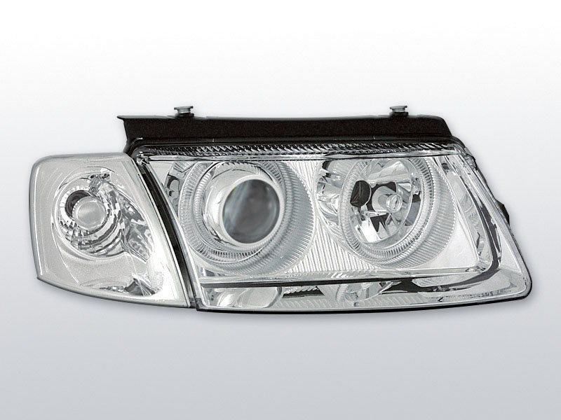 Predné svetlá, VW PASSAT B5 (3B) 3B, 1996-2000, ANGEL EYES CHROM