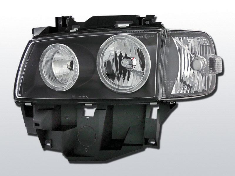 Predné svetlá, VW T4, 1996-2003, BUS ANGEL EYES ČIERNA