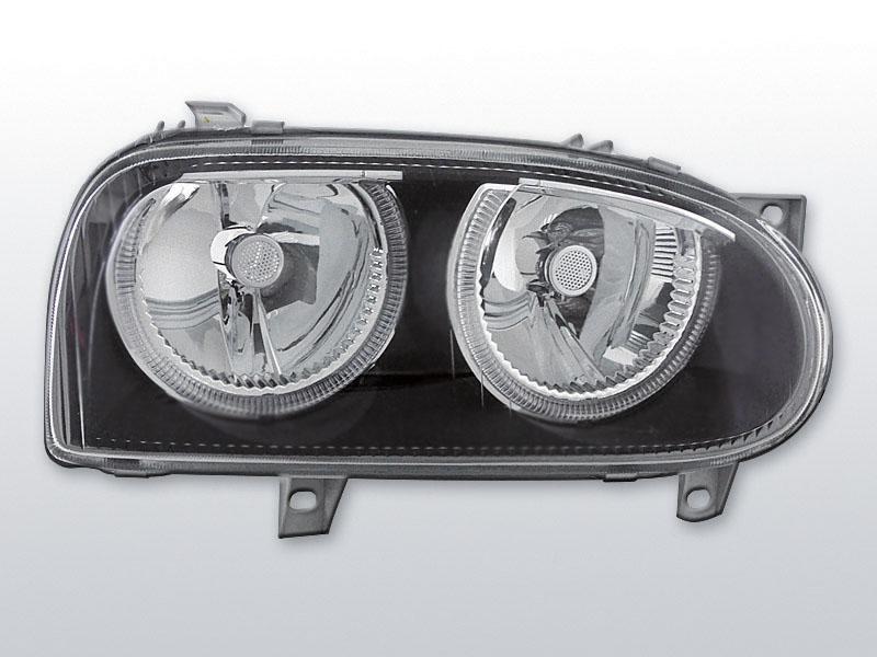 Predné svetlá, VW GOLF III, 1991-1997, ANGEL EYES ČIERNA