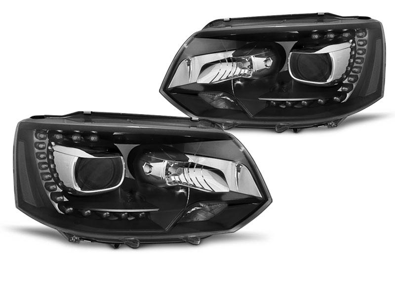 Predné svetlá, VW T5, 2010-2015, TRU DRL XENON LOOK BLACK