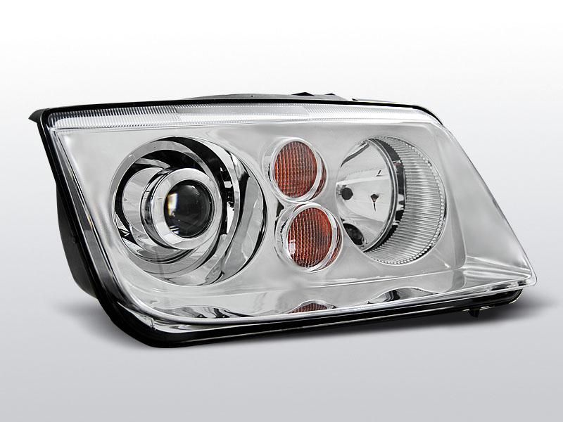 Predné svetlá, VW BORA, 1998-2005, CHROM