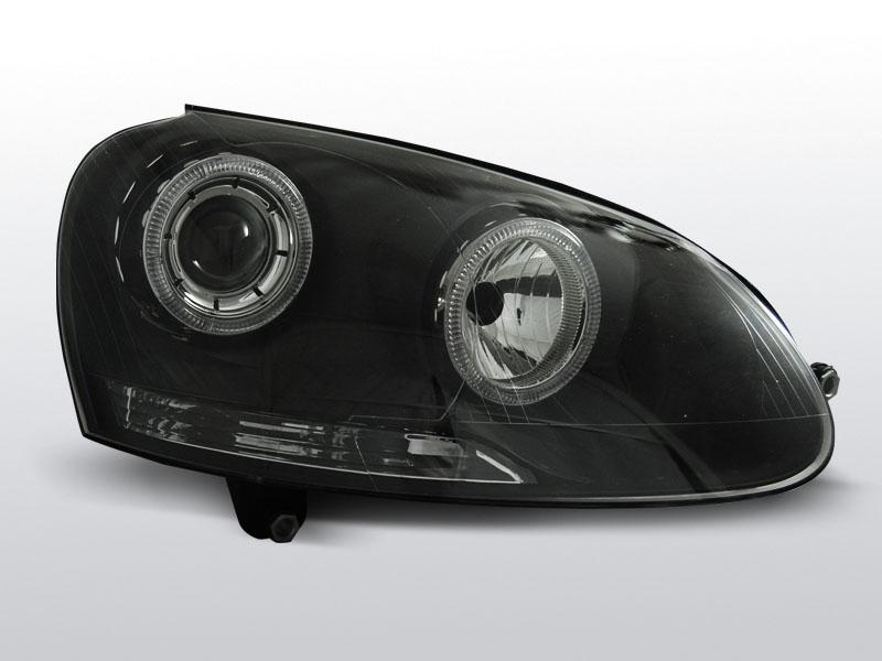 Predné svetlá, VW GOLF V, 2003-2009, ANGEL EYES ČIERNA