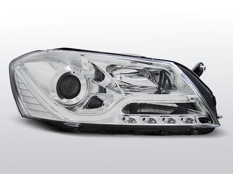 Predné svetlá, VW PASSAT B7 (3C), 2010-, CHROM TUBE LIGHT