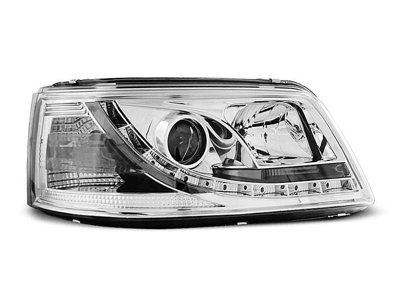 Predné svetlá, VW T5, 2003-2009, TRU DRL CHROM