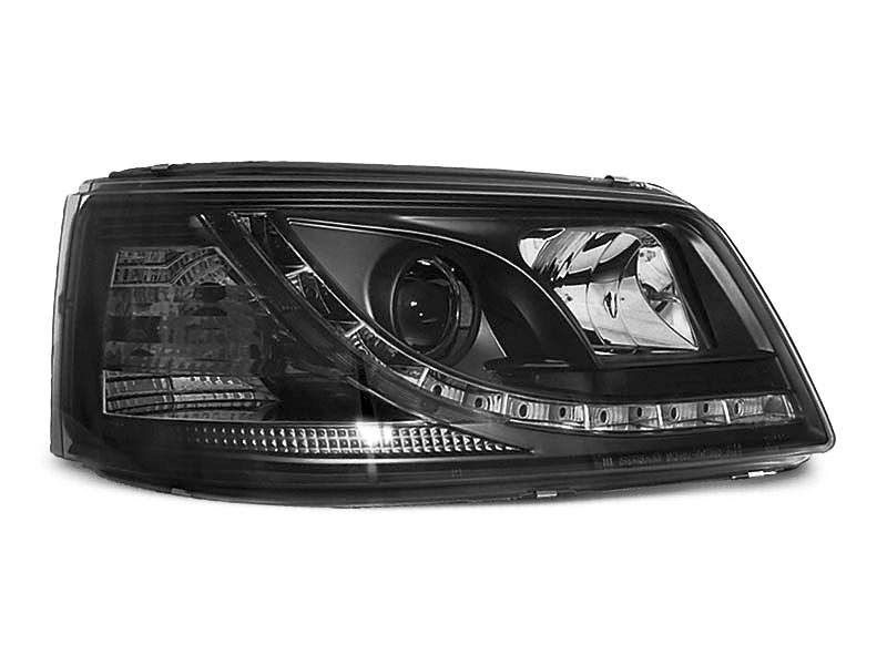 Predné svetlá, VW T5, 2003-2009, TRU DRL ČIERNA