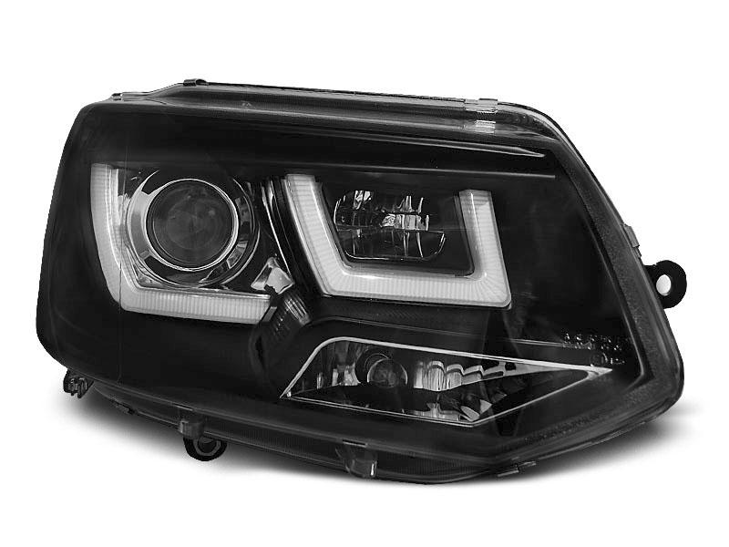 Predné svetlá, VW T5, 2010-2015, U-TYPE BLACK