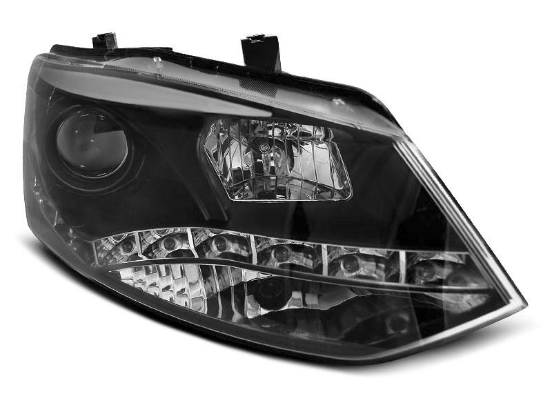Predné svetlá, VW POLO 6R, 2009-2014, DRL BLACK