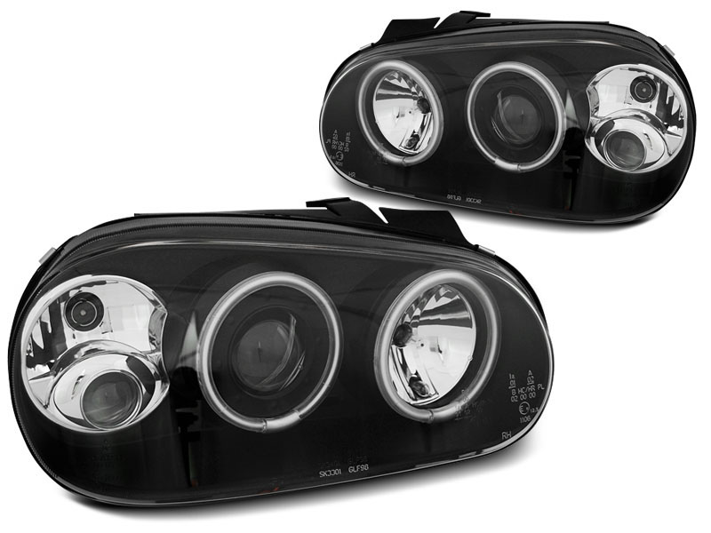 Predné svetlá, VW GOLF 4, 1997-2003, ANGEL EYES CCFL BLACK