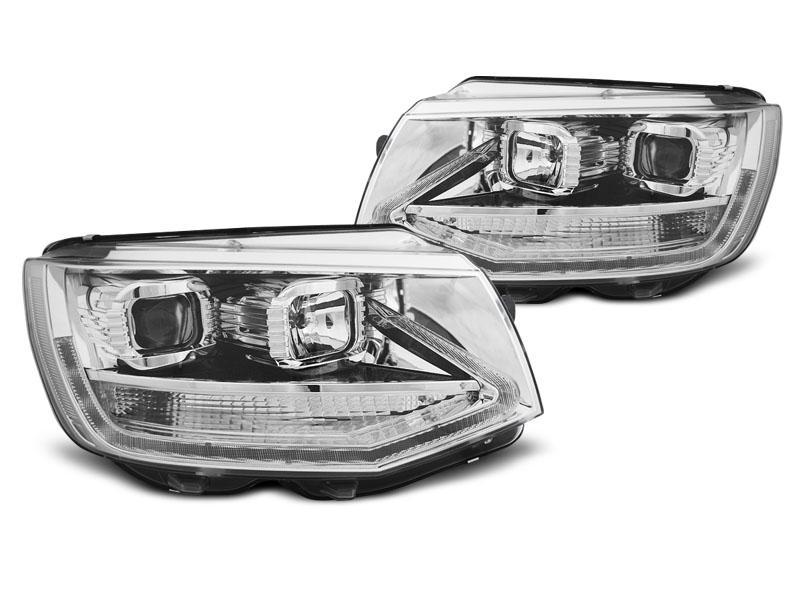 Predné svetlá, VW T6, 2015- , CHROME LED TRU DRL