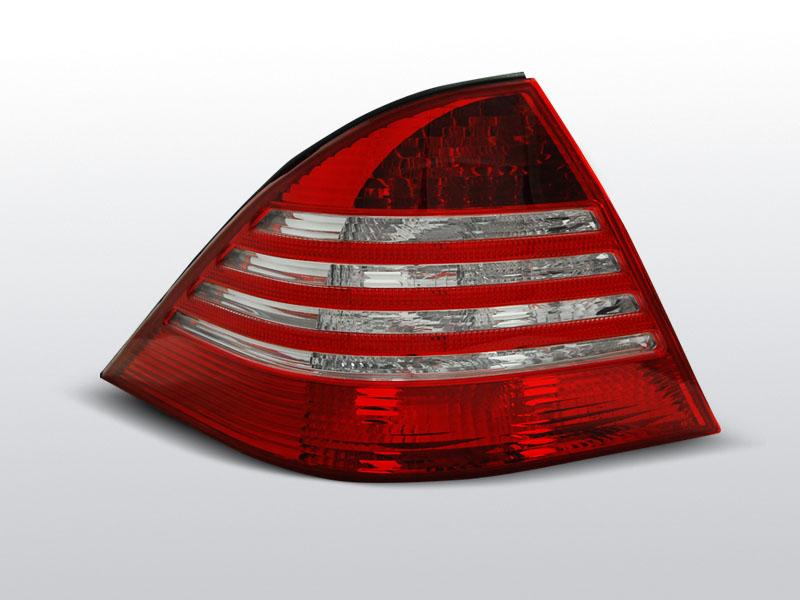 Zadné svetlá číra, MERCEDES S-KLASSE W220, 1998-2005, ČERVENÁ BIELY