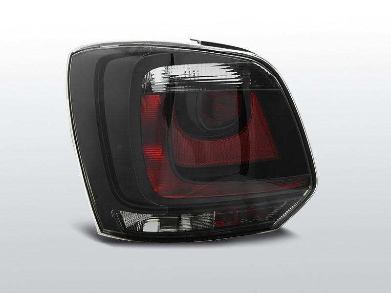 Zadné svetlá číra, VW POLO 6R, 2009-, ČERVENÁ BIELY SMOKE GTI