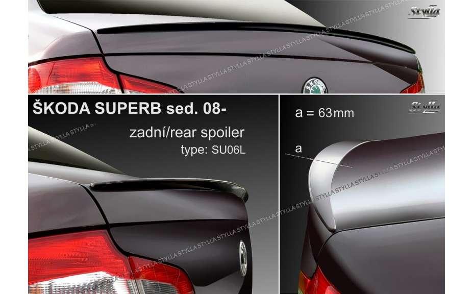 Spojler na kapotu, Škoda Superb II, 2009->, sedan, limusine