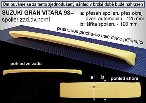 Spoiler zadných dverí horný, SUZUKI Grand Vitara, 98->