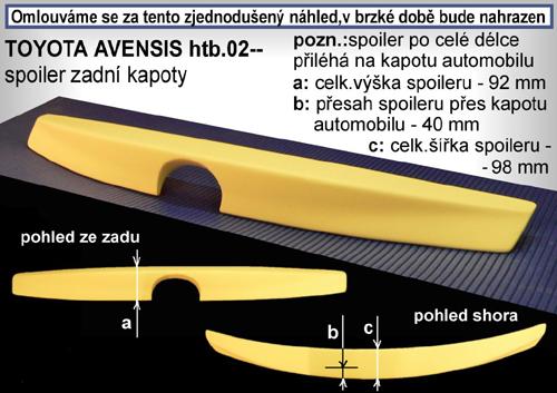 Spojler na kapotu, TOYOTA Avensis, 04/03-