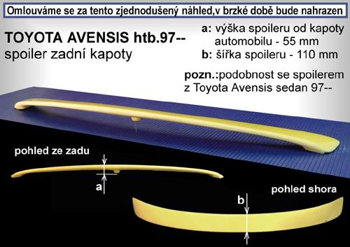 Krídlo na kapotu, TOYOTA Avensis, 09/97-03/03