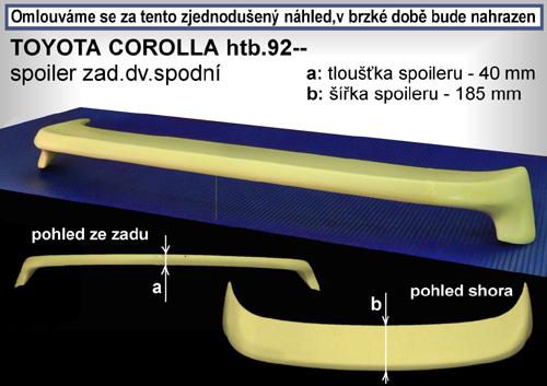 Spoiler zadných dverí spodnej, TOYOTA Corolla, 07/92-04/97