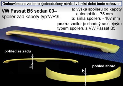 Spoiler zadné kapoty, VW Passat, 11/00->