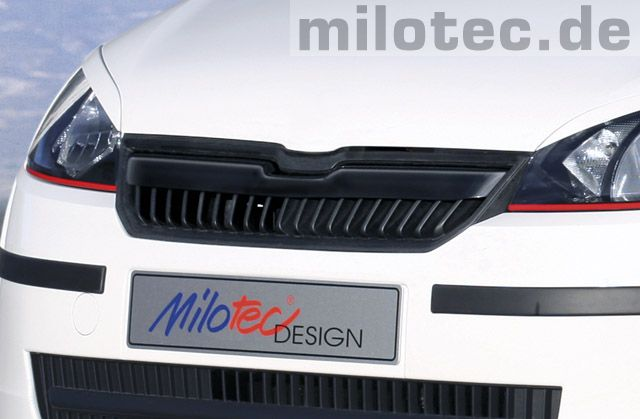 Lišta do predné masky - ABS čierný,  Škoda Citigo, 2011->, MILOTEC