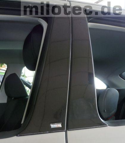 Kryty dveřních sloupků - ABS černá metalíza, Škoda Octavia II, 2004-2013, Limousine
