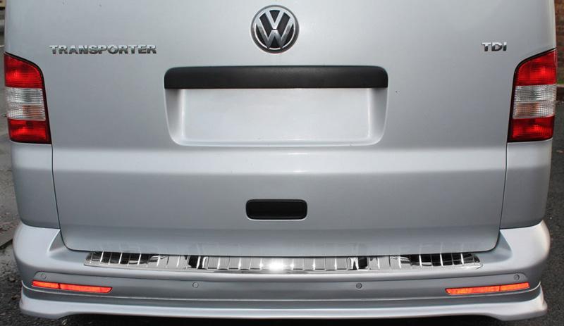 Nerezový kryt hrany kufra, VW TRANSPORTER T5, Multivan, Caravelle, 2003-2015