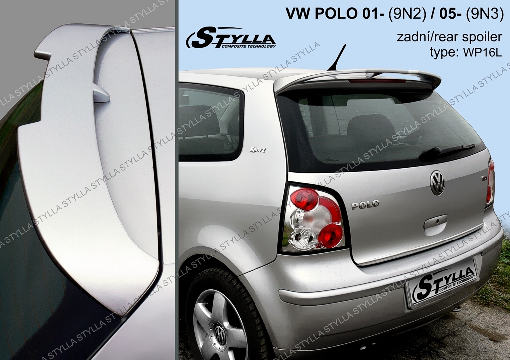 Spoiler zadných dverí horný, VW Polo, 2001-2005