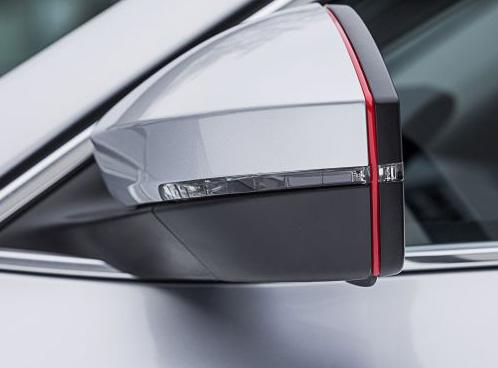 Design lišta zpětných zrcátek - červená, Škoda Kodiaq, 2017-