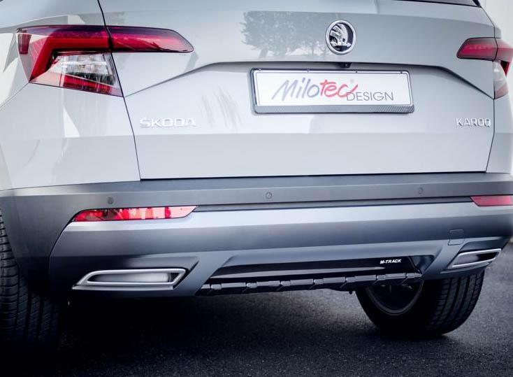 Difúzor na zadný nárazník Škoda Karoq 2017->, MILOTEC