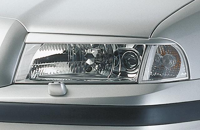 Kryty světlometů Milotec (mračítka) - ABS černý, Škoda Octavia I, 2000 - 2010, po faceliftu; RS