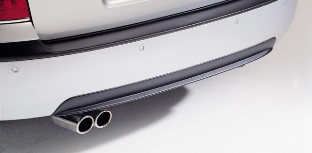 Difuzor zadného nárazníka - ABS čierný lesklý, Škoda Octavia I, 1997 - 2010, Limousine / Combi