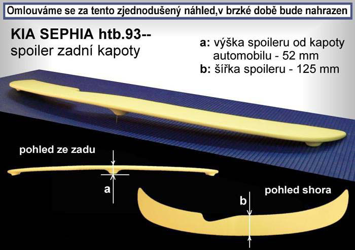 Spojler na kapotu, KIA Sephia, 93-99 HB
