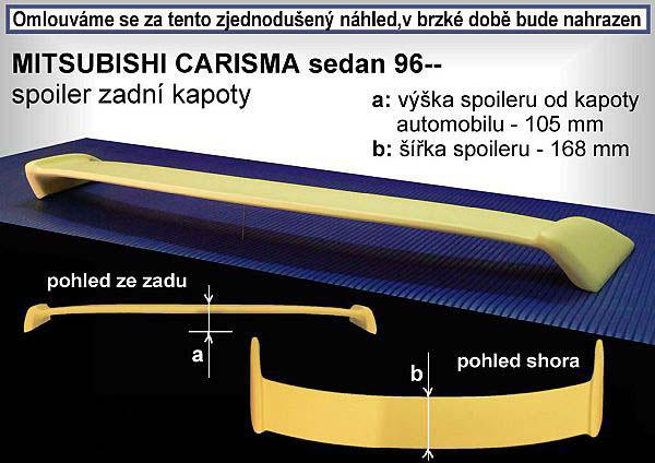 Krídlo na kapotu, MITSUBISHI Carisma, 96-99 SDN