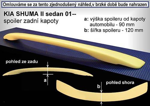 Spojler na kapotu, KIA Shuma II, 01->