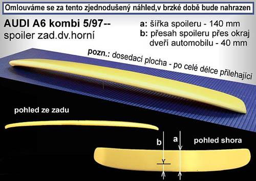Spojler na kapotu strešný, AUDI A6, 04/98-> Combi