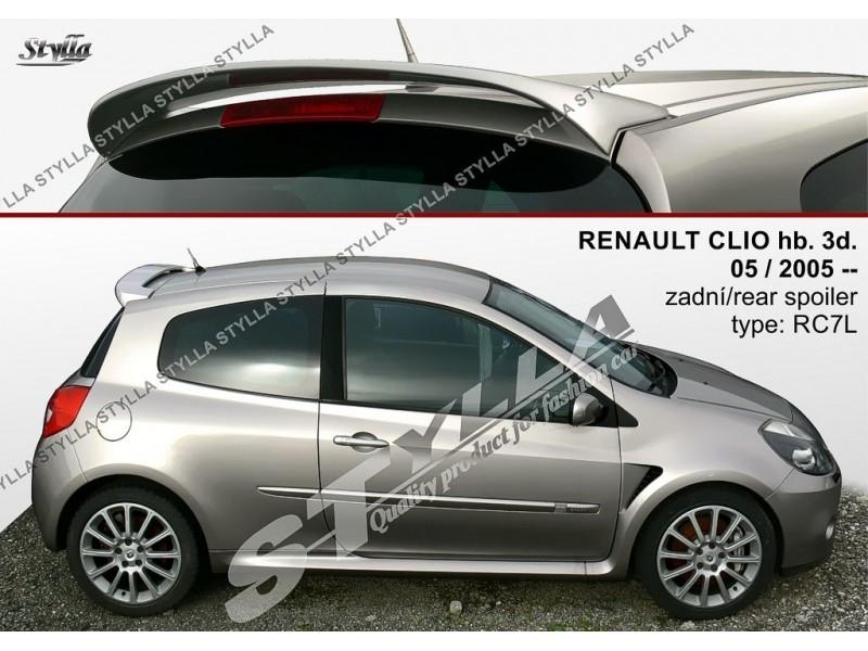 Spoiler zadných dverí horný, Renault Clio III, 2005-2012