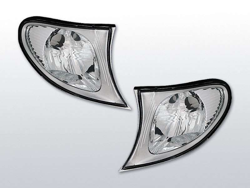 Smerovky predné, BMW E46, 2001->2005, SEDAN/TOURING, CHROME RAND
