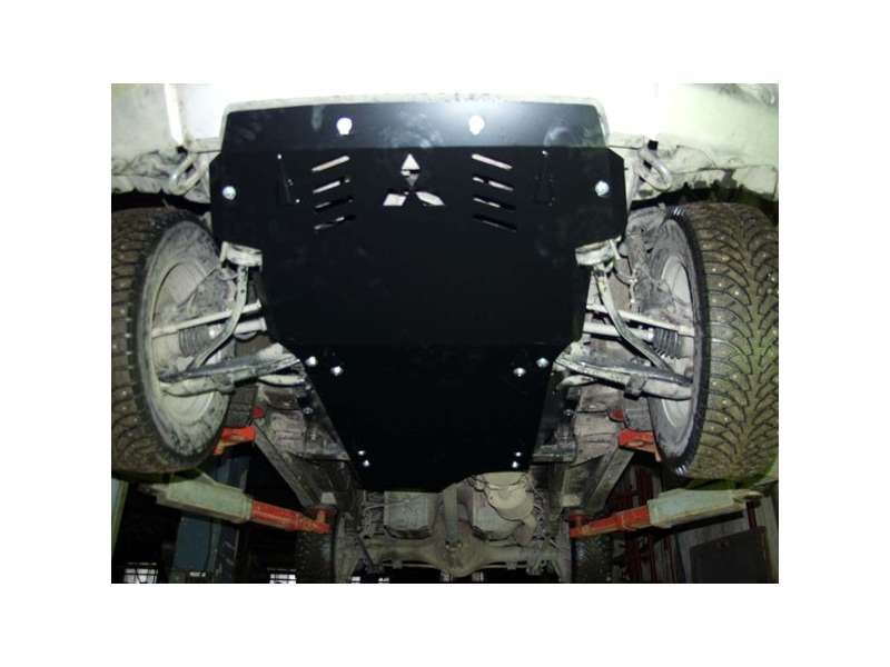 Kryt motora a prevodovky, MITSUBISHI Pajero Pinin, (H6;H7), 1999->2003->, ohýbaný, oceľ 2 mm