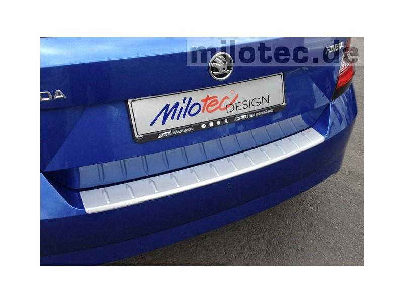 Kryt prahu kufra - ABS strieborná, Škoda Fabia III, 2014->, Hatchback, MILOTEC
